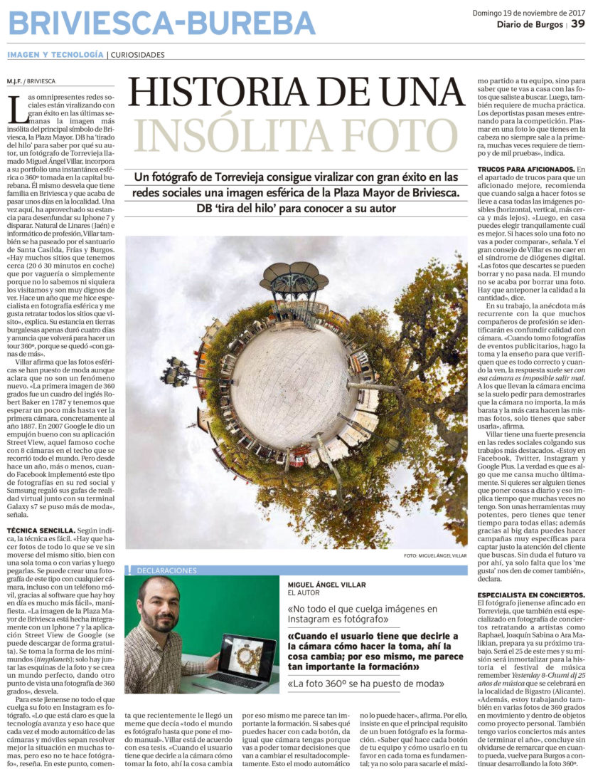 El Diario de Burgos - Briviesca Tiny Planets