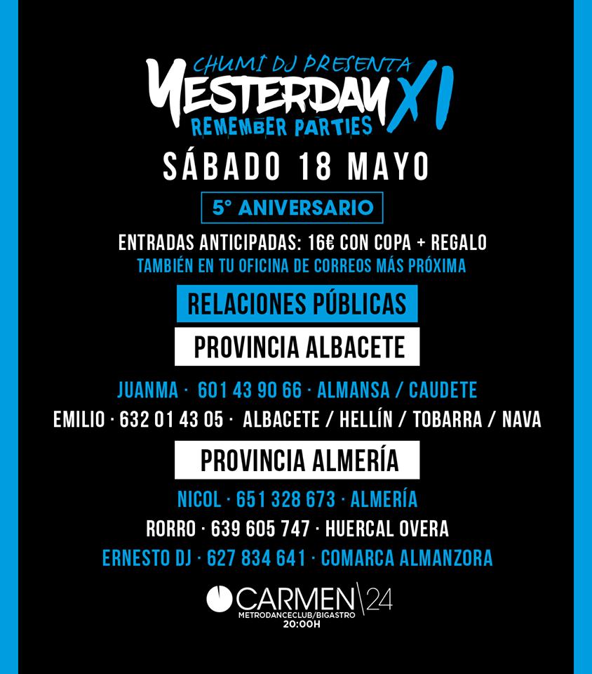 Entradas Yesterday 11 Albacete Almeria